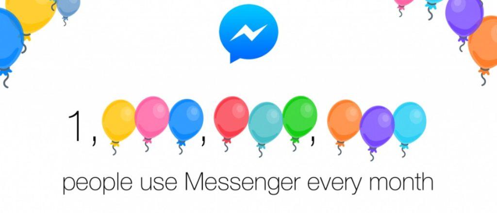 Facebook Messenger Aylık 1 Milyar Kullanıcıya Ulaştı